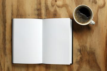 Blank notebook open