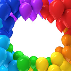Frame of colorful balloons