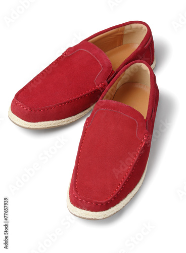 canvas print picture Red Casual Shoes