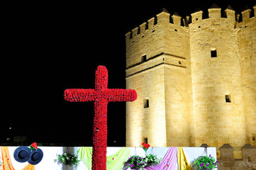 the May Cross near Roman Bridge, Cordoba, Spain