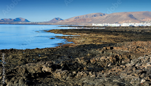 Keuken foto achterwand Noord Europa Atlantic coast, Lanzarote Island, Canary Islands, Spain