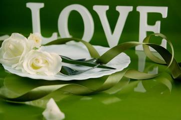 Tischdekoration Liebe
