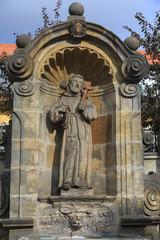 Statue of the saint near Kloster Michelsberg (Michaelsberg) in B