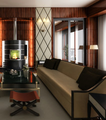 Suite with fireplace (focus)
