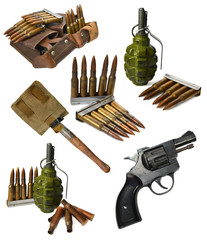 World War Two historical set with weapon
