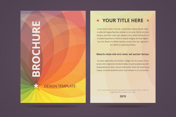 Brochure/flyer/poster design template with abstract geometric ba