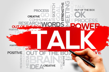 TALK word cloud, business concept