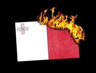 Flag burning - Malta