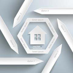 Six Arrows Hexagon House Window