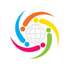 global business relation icon design concept vector