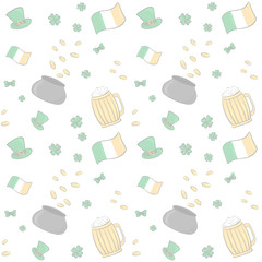 Ireland Saint Patrick s Day background pattern