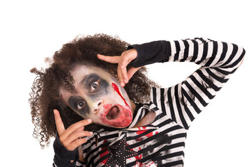 Young girl Zombie in Halloween