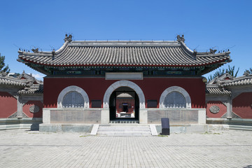 traditonal taoism temple facade in china