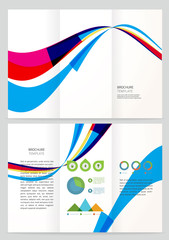 Abstract wave Vector Brochure Template.