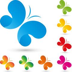 Logo, Schmetterling, butterfly, Insekt, Wellness