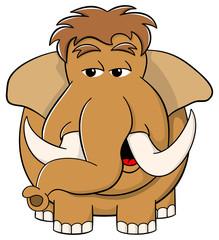 Cartoon Mammut auf weißem Hintergrund