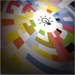 Creative circle abstract vector logo design background. Corporat