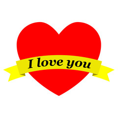 Corazon con cinta I love you