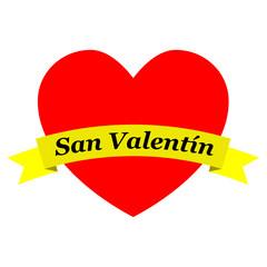 Corazon con cinta San Valentin