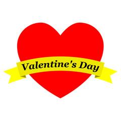 Corazon con cinta Valentine's Day