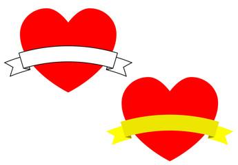 Pictograma corazon con cinta