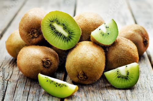 Foto op Aluminium Vruchten kiwi