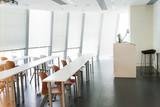 modern classroom interior and furniture