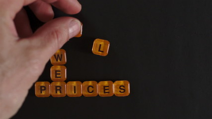 Letter Blocks Spell Lower Prices