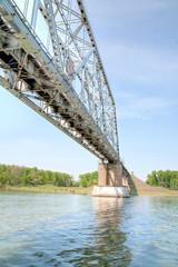 Long railway bridge