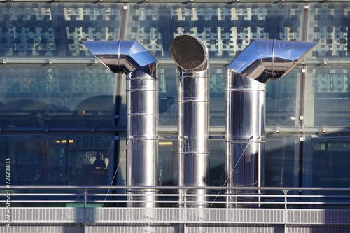 three ventilation chimneys in stainless steel - 77668183
