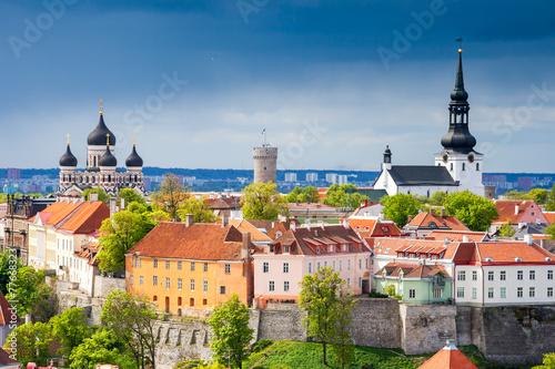 Aluminium Oost Europa Cityscape of Tallinn. Estonia