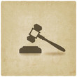 judge or auctioneer hammer - 77668529