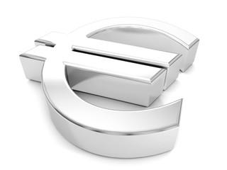 silver euro symbol
