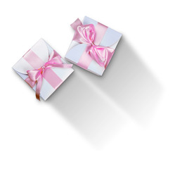 Two boxes with pink bow