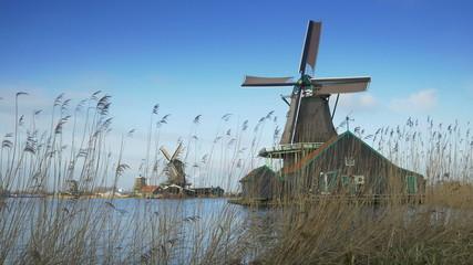 Turning windmills at the Zaanse Schans