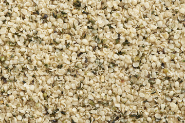 Hemp seed on background