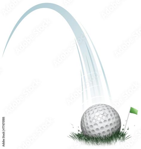 Fotobehang Sportwinkel golf ball action