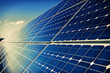 Solar panels and sky background - 77670390