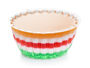 Fruit and milk jelly