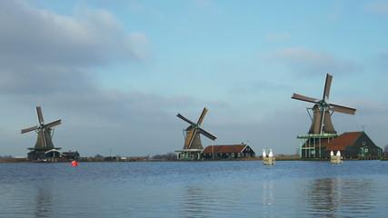 Dutch windmills in Holland