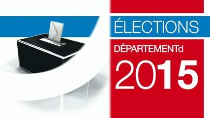 Elections départementales 2015 bulletin vote urne 3d animation