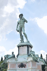 Statue of David in the Plaza Michelangelo, Florence, Italy