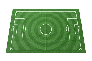 Soccer field green paper