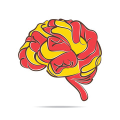 abstract brain design vector