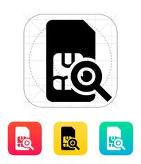 SIM card search icon.