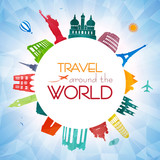 Travel around the world poster