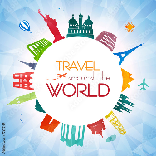Travel around the world - 77672147