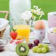 gesundes frühstück am morgen