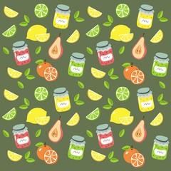 fruit jam pattern design