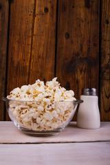 Popcorns and salt shaker